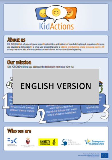 KID_ACTIONS project's infographic (English version)
