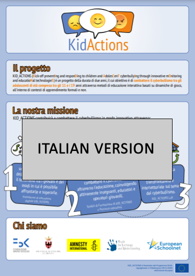KID_ACTIONS project's infographic (Italian version)