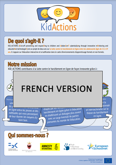 KID_ACTIONS project's infographic (French version)